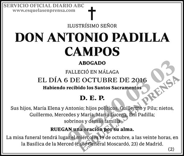 Antonio Padilla Campos